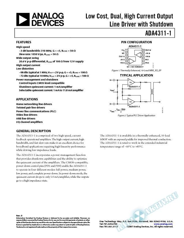 ADA4311-1