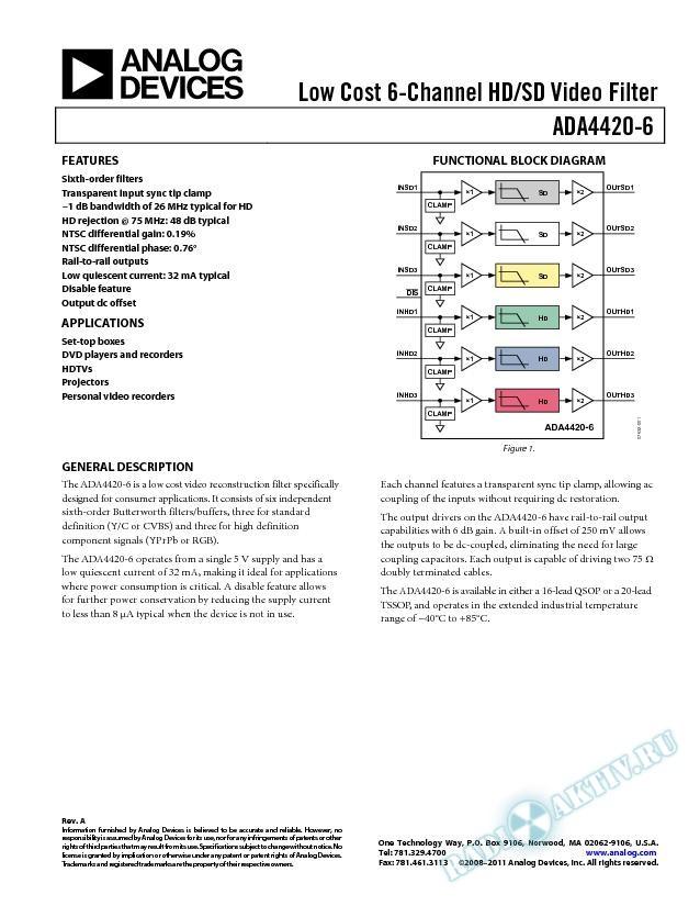 ADA4420-6