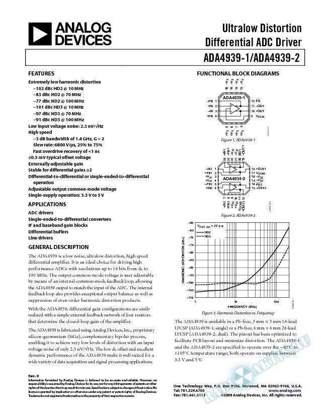 ADA4939-1/ADA4939-2