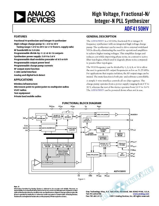 ADF4150HV