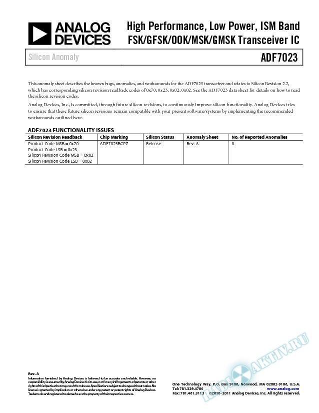 ADF7023