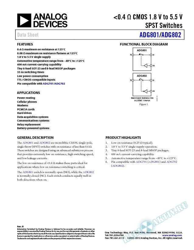 ADG801/ADG802