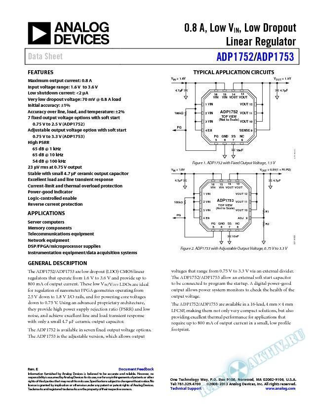 ADP1752/ADP1753