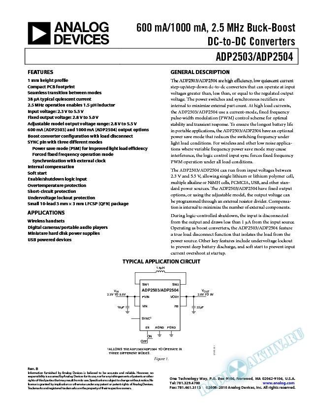 ADP2503/ADP2504