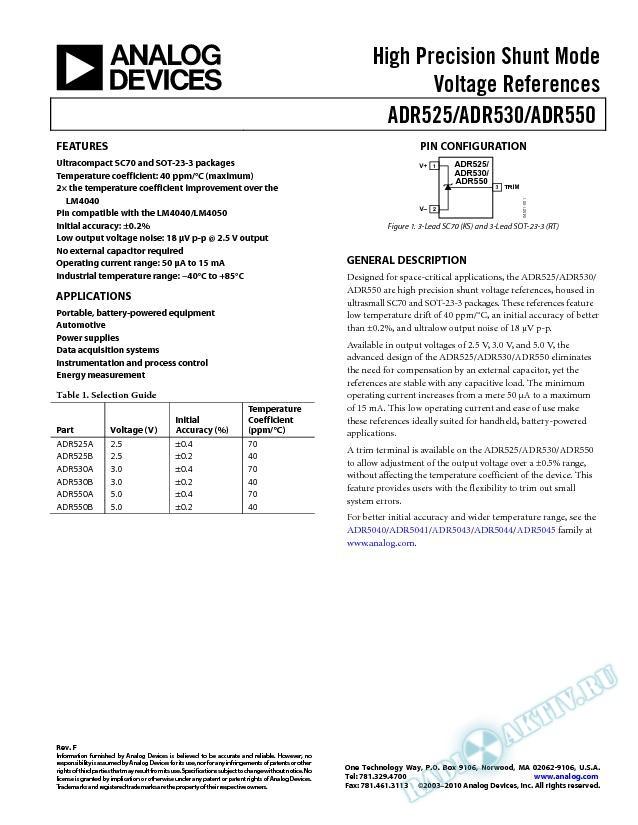 ADR525/ADR530/ADR550