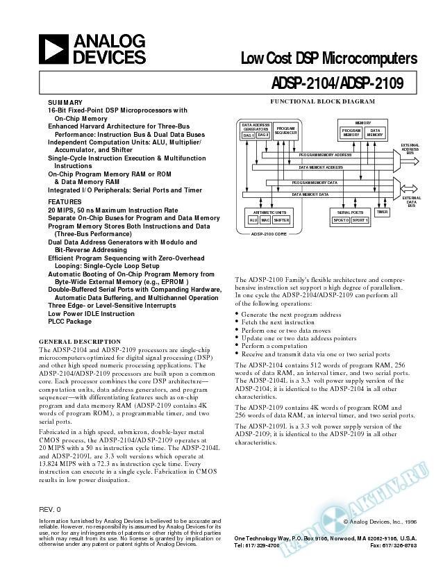 ADSP-2104/ADSP-2104L