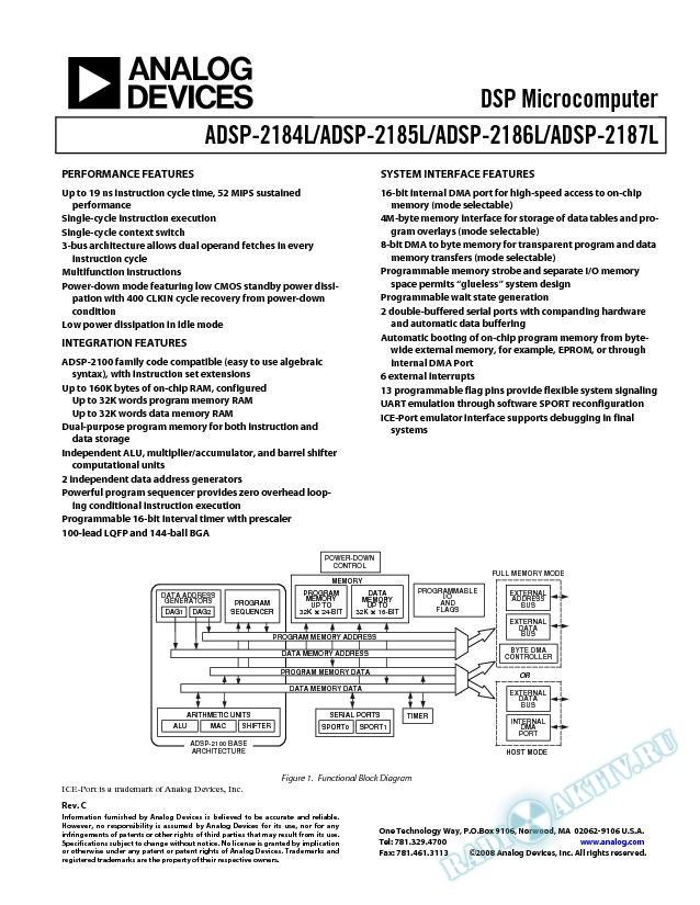 ADSP-2184L/ADSP-2185L/ADSP-2186L/ADSP-2187L