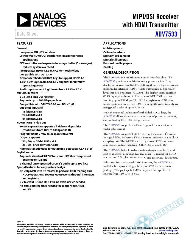 ADV7533