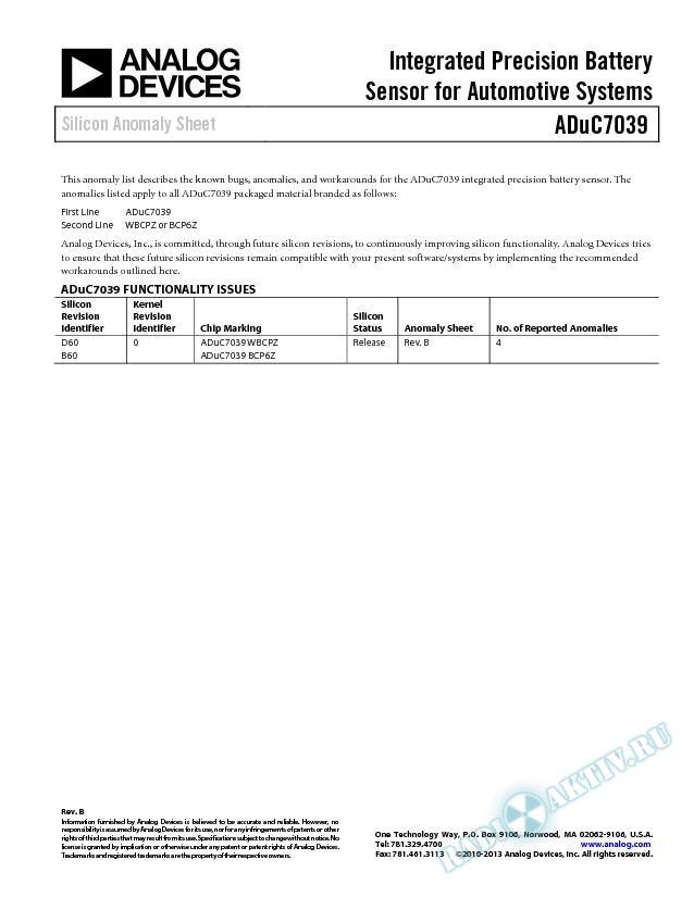 ADuC7039