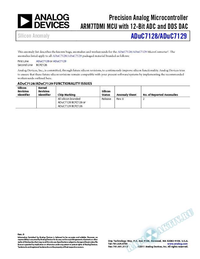ADuC7128/ADuC7129