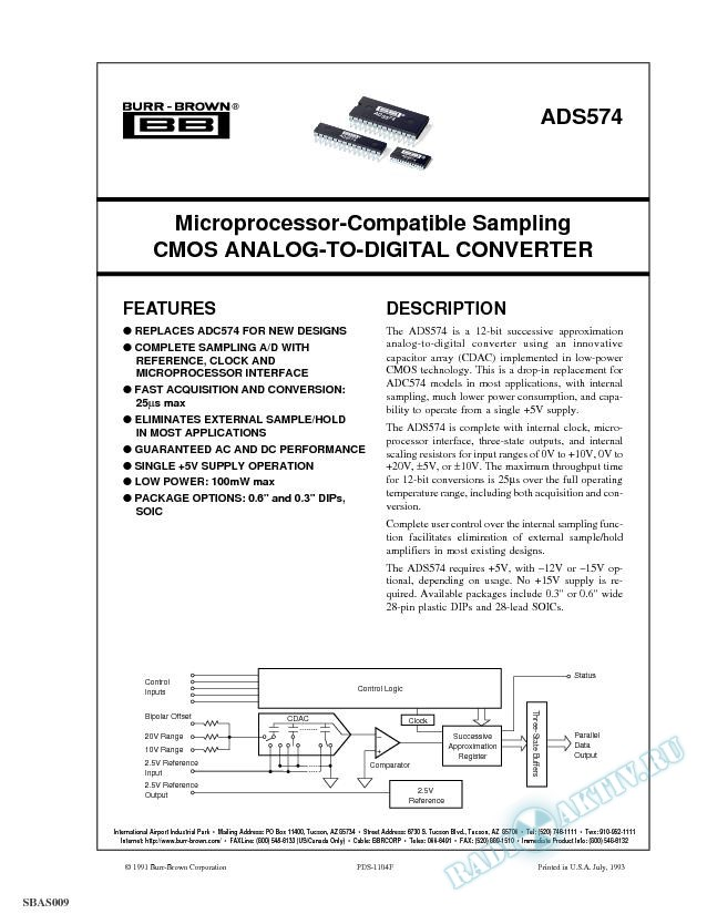 Microprocessor-Compatible Sampling CMOS A/D Converter