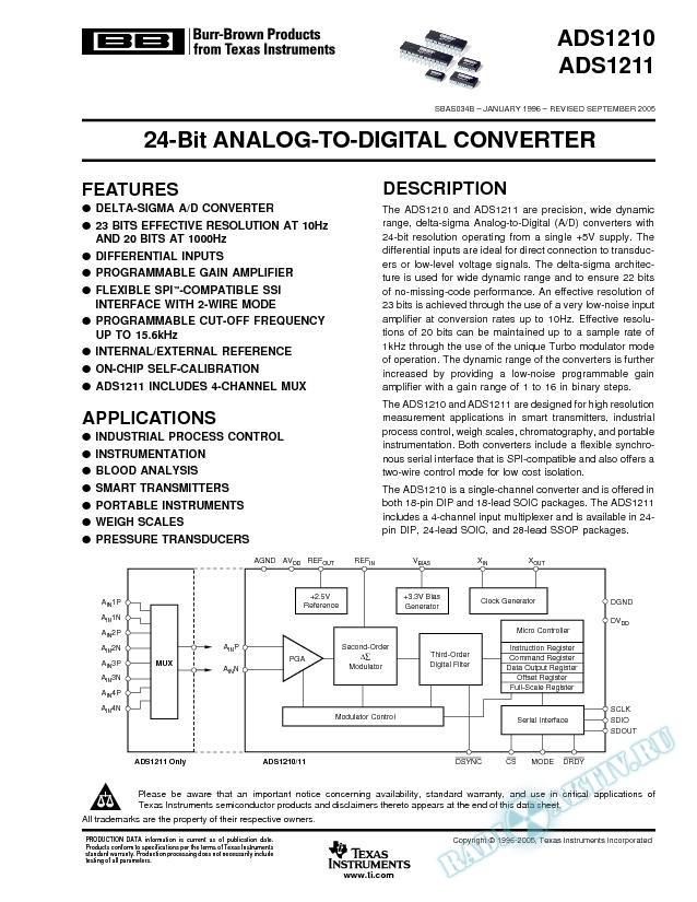 24-Bit Analog-to-Digital Converter (Rev. B)