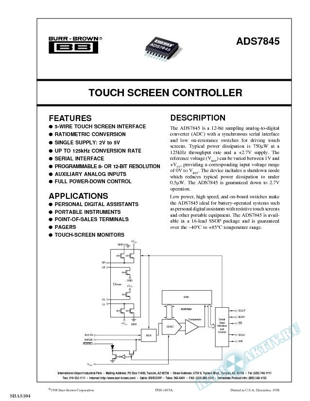Touch Screen Controller