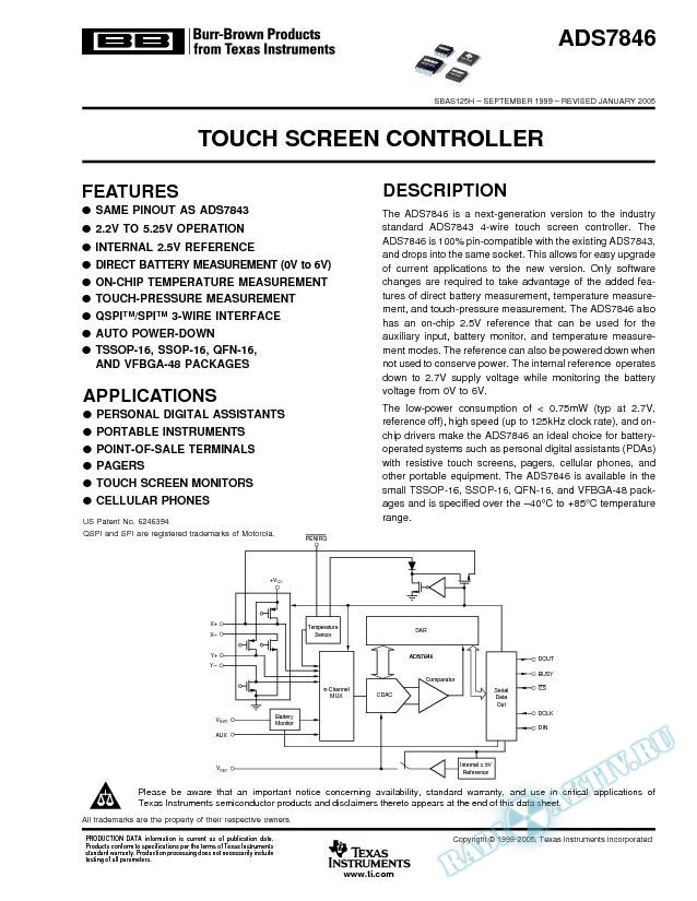 Touch-Screen Controller (Rev. H)