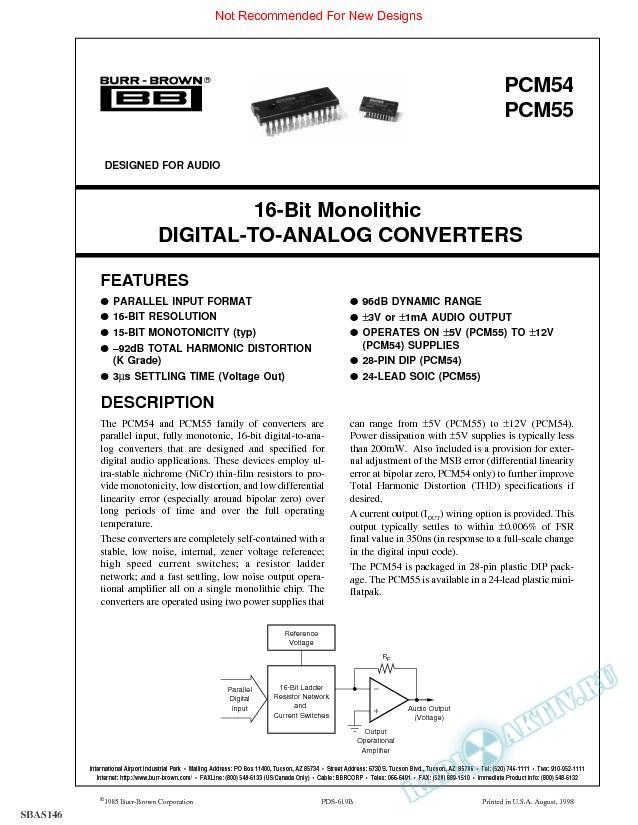 16-Bit Monolithic Digital-to-Analog Converter