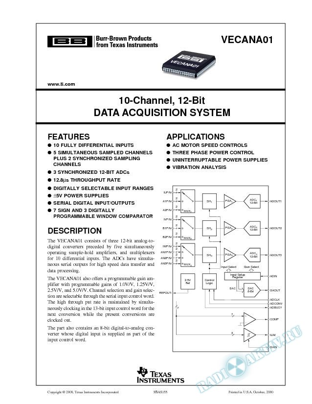 10-Channel 12-Bit Data Acquisition System