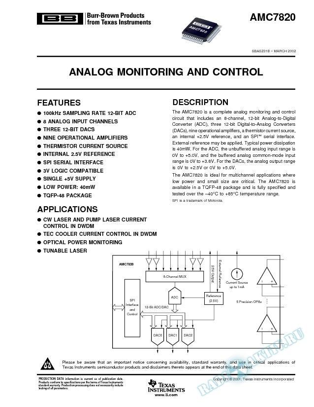 Analog Monitoring and Control (Rev. B)