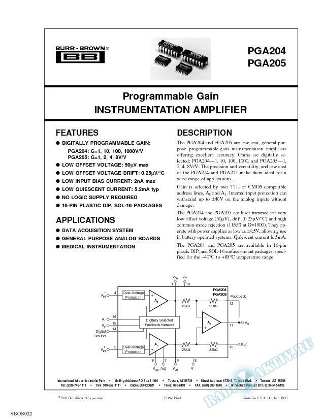 Programmable Gain Instrumentation Amplifier