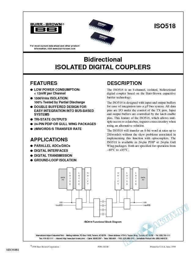 Bidirectional Isolated Digital Couplers