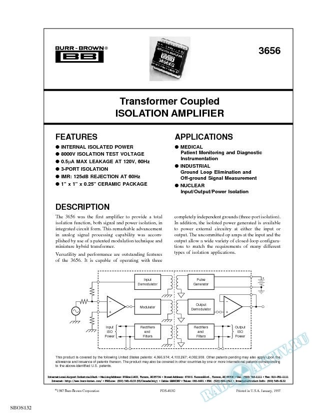 Transformer Coupled Isolation Amplifier