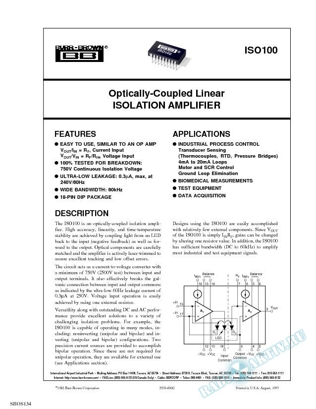 Dual, Low Power, G = 10, 100 Instrumentation Amplifier