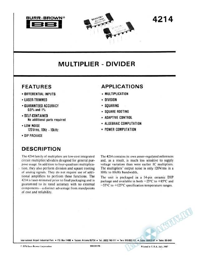 Multiplier-Divider