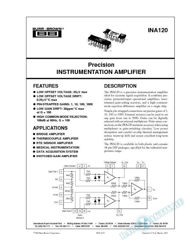 Precision Instrumentation Amplifier