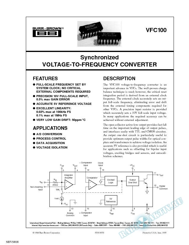 Synchronized Voltage-To-Frequency Converter