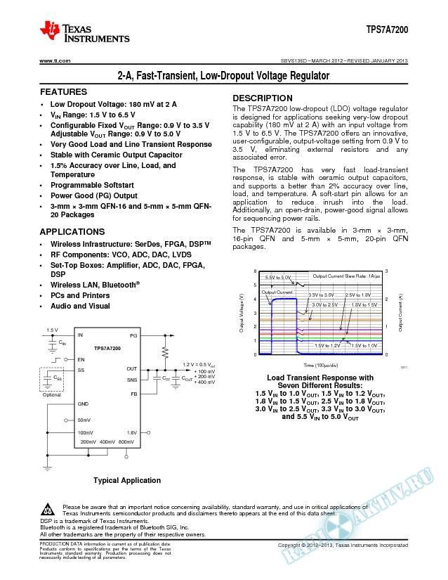 2-A, Fast-Transient, Low-Dropout Voltage Regulator (Rev. D)