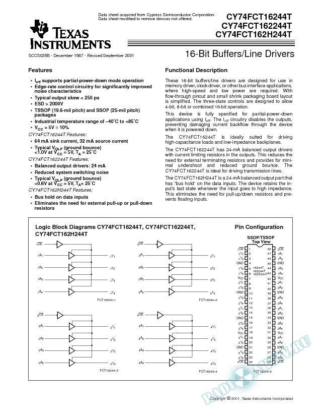 16-Bit Buffers/Line Drivers (Rev. B)