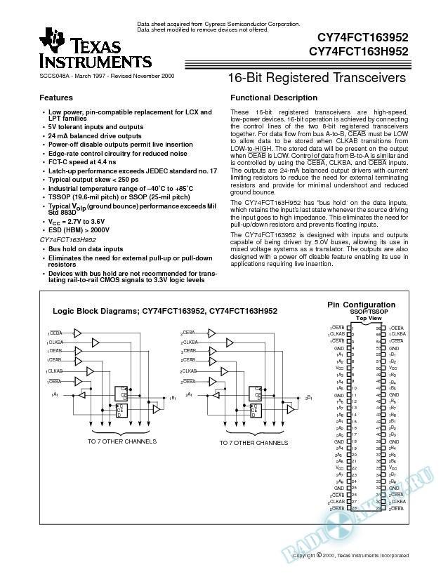 16-Bit Registered Transceivers (Rev. A)