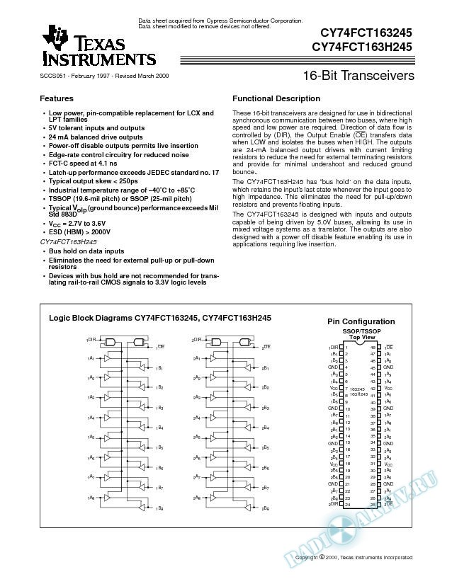 16-Bit Transceivers