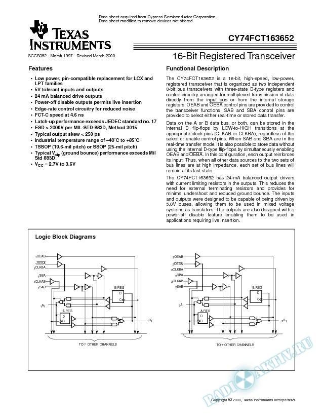 16-Bit Registered Transceiver