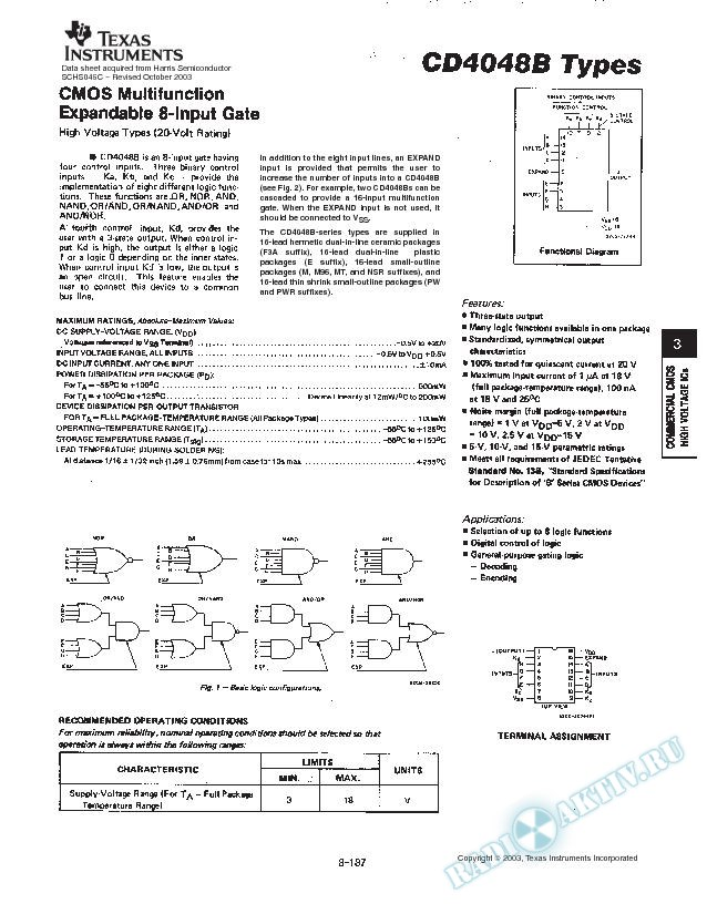 CD4048B TYPES (Rev. C)