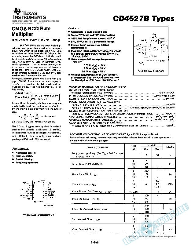 CD4527B TYPES (Rev. C)