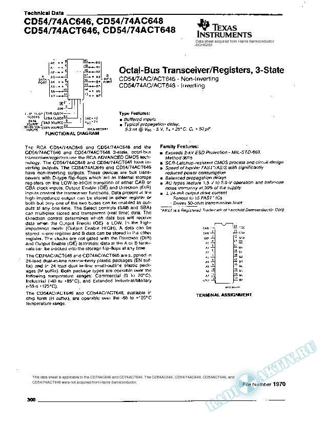Octal-Bus Transceiver/Registers, 3-State