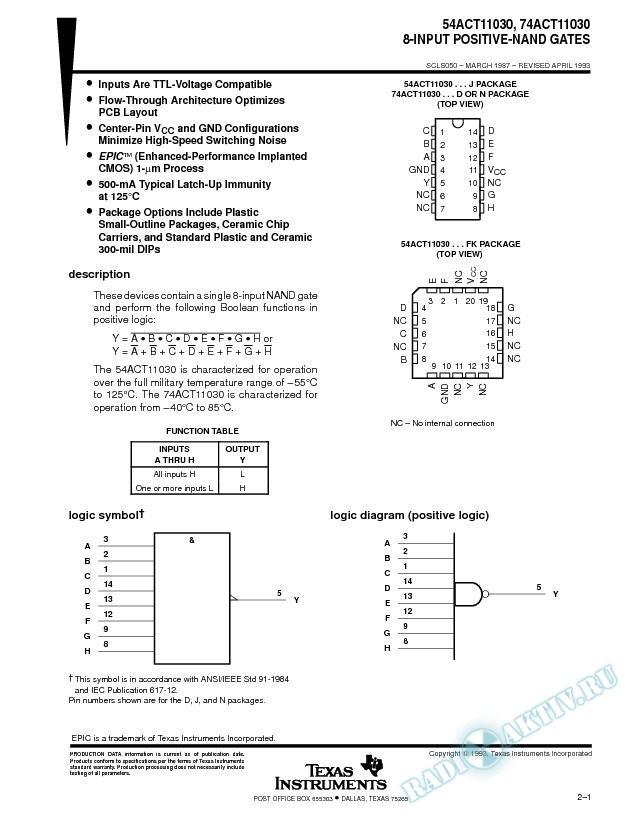8-Input Positive-NAND Gates
