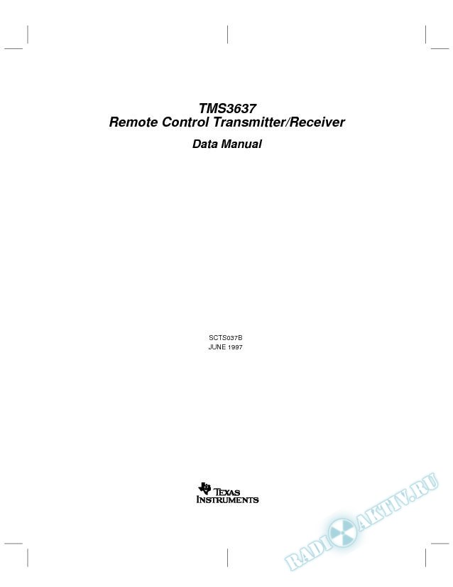 Remote-Control Transmitter/Receiver (Rev. B)
