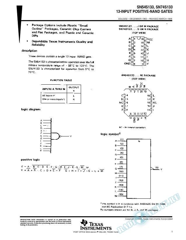 13-Input Positive-NAND Gates