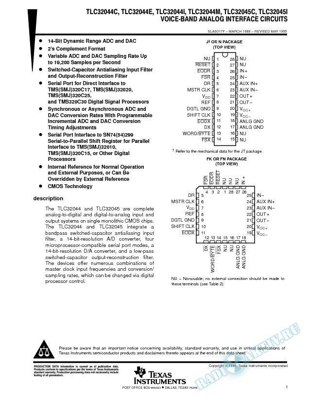 Voiceband Analog Interface Circuits (Rev. F)