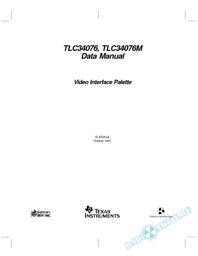 Video Interface Palette (Rev. A)