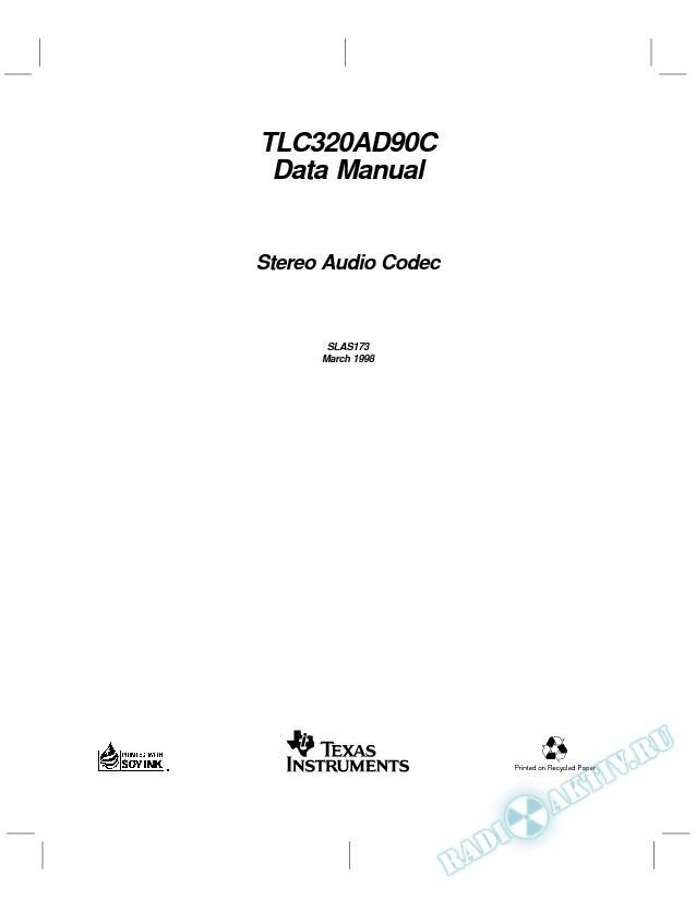 Stereo Audio Codec Data Manual