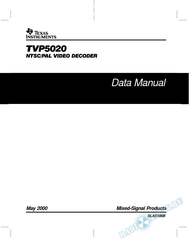 TVP5020 NTSC/PAL Video Decoder (Rev. B)
