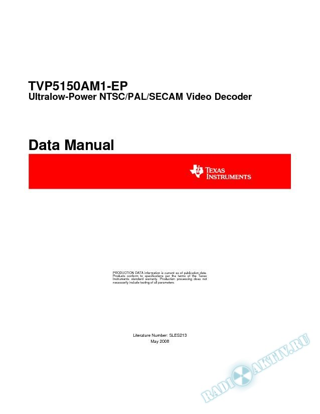 Ultralow Power NTSC/PAL/SECAM Video Decoder