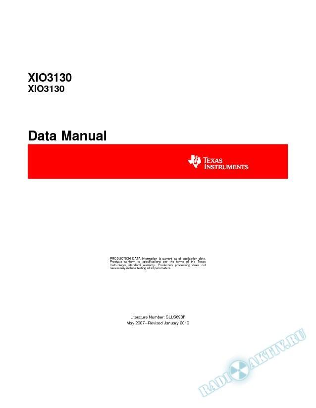 XIO3130 Data Manual (Rev. F)