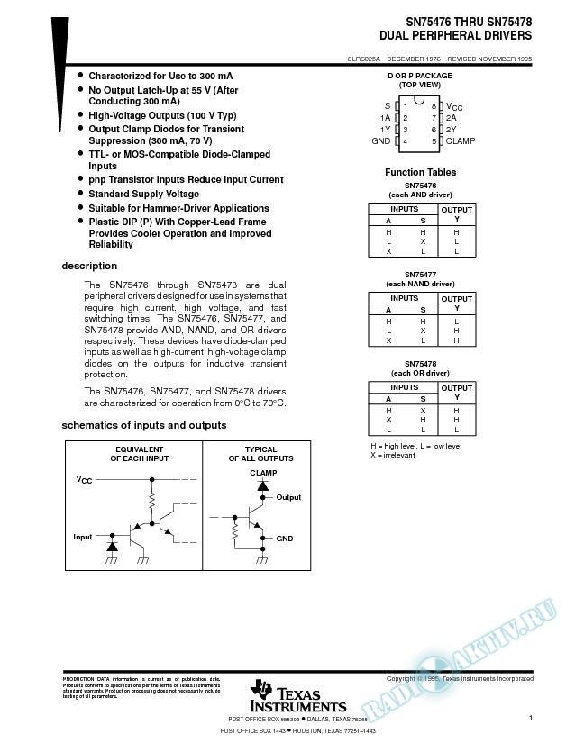 Dual Peripheral Driver (Rev. A)