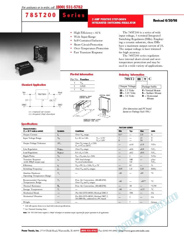 2 Amp Positive Step-down Integrated Switching Regulator