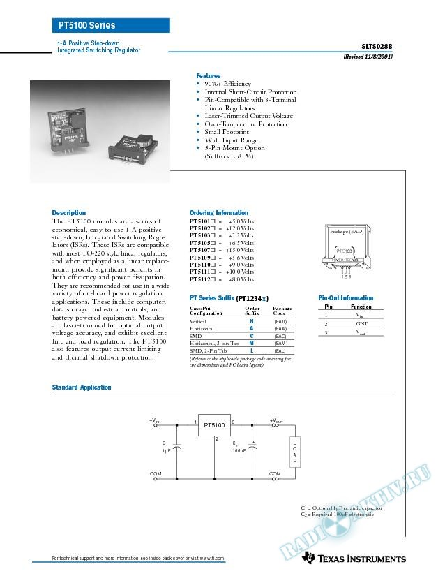 1-A Positive Step-Down Integrated Switching Regulator (Rev. B)