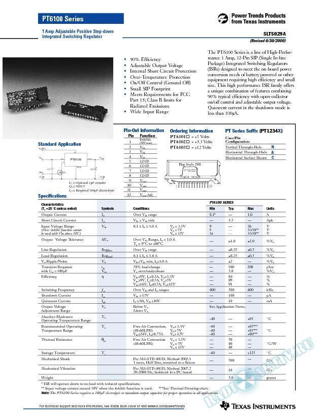 1 Amp Adjustable Positive Step-Down Integrated Switching Regulator (Rev. A)