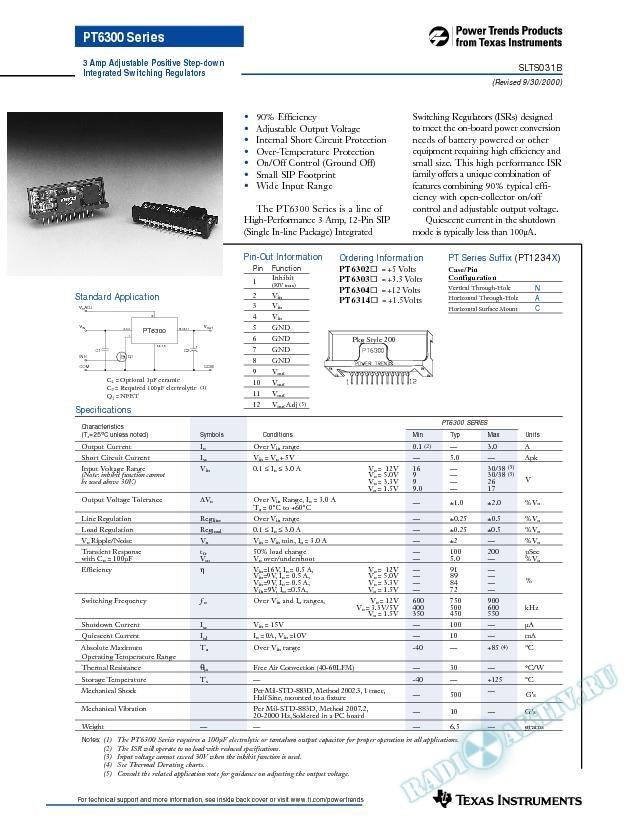 3 Amp Adjustable Positive Step-Down Integrated Switching Regulator (Rev. B)
